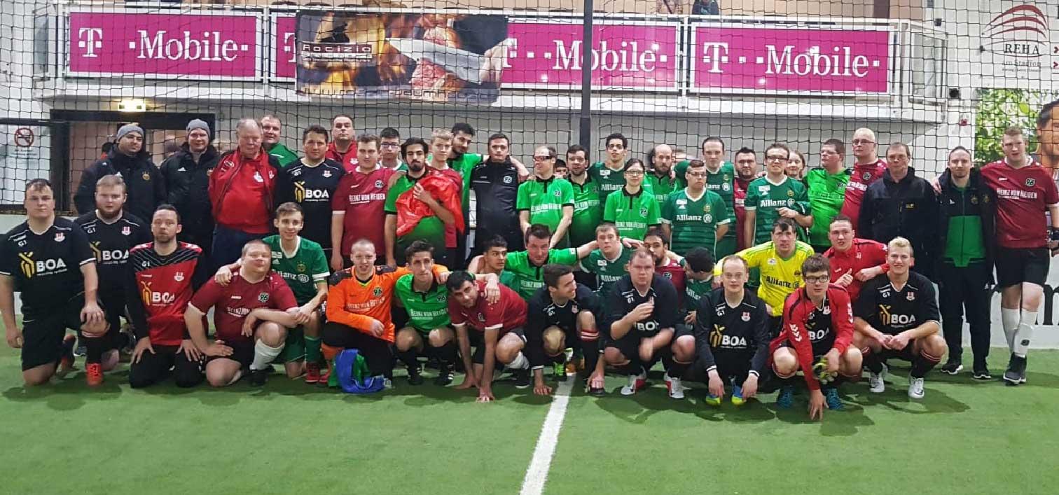 Die Fußballer*innen der Lebenshilfe Hannover