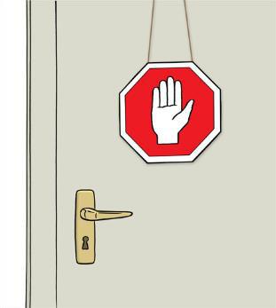Tür geschlossen