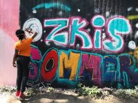 Graffiti-Spray-Aktion