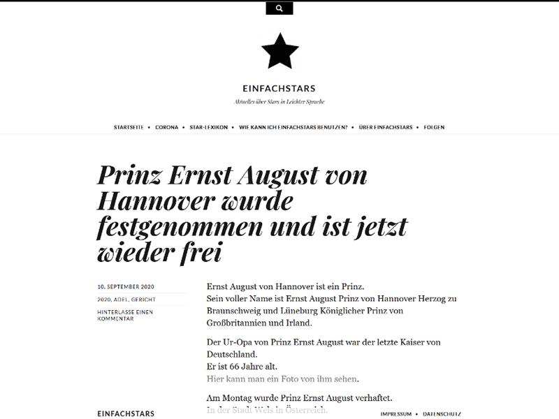 Prinz Ernst August festgenommen
