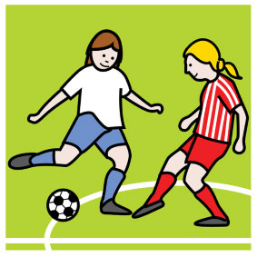 Fussbal-Spiel