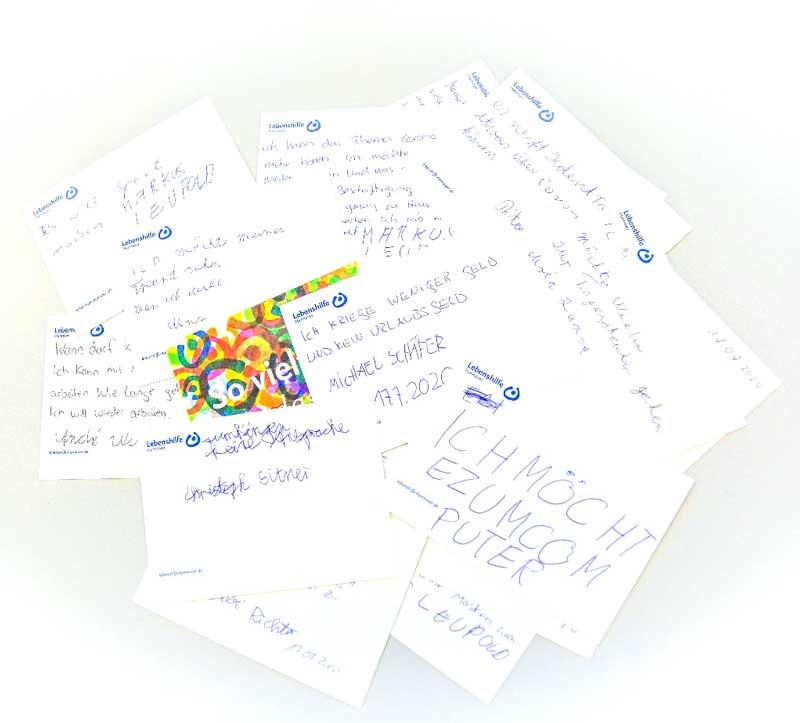 Postkarten an Politiker*innen